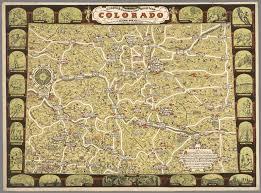 Map Colorado by Clason U0027s Road Map Colorado David Rumsey Historical Map Collection