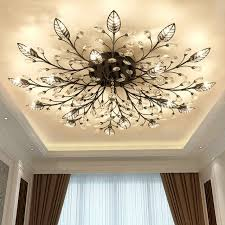 Flush To Ceiling Light Fixtures Modern K9 Led Flush Mount Ceiling Chandelier Lights