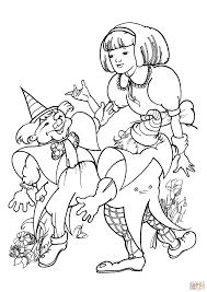 alice met two clowns coloring page free printable coloring pages