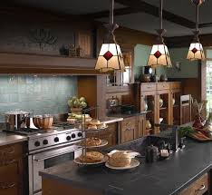 Craftsman Style Kitchen Lighting Craftsman Stained Glass Pendant Lights Home Plans Pinterest