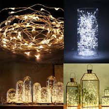 copper wire lights battery 20 30 40 50 100 led string copper wire fairy lights battery powered