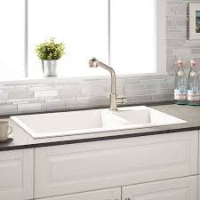 sinks white tile in sinks tile in sinks white sinks faucets sinks white tile in sinks tile in sinks white sinks faucets sinks kitchen islands double bowl drop in granite composite sink