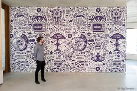 portfolio of custom work by the wall sticker company custom mural for artist cohen gum
