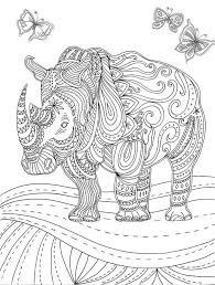 119 coloring hippo rhino images colouring