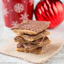 christmas aka saltine cracker toffee little sweet baker