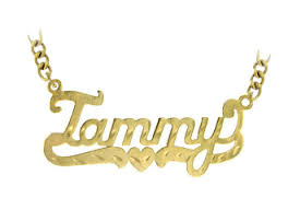 Name Chain Gold Plated Sterling Silver Name Necklace