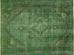 Green Persian Rug New Green Overdyed 9x12 Handmade Oriental Floral Hand Knotted Wool