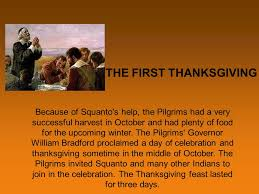 the thanksgiving story ppt