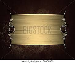 Gold Nameplate Grunge Brown Background With Gold Nameplate Image Cg6p3460699c