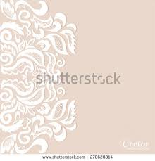 Wedding Card Design Background Abstract Lace Ornament Background Wedding Invitation Stock Vector
