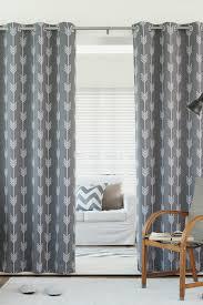 arrow printed room darkening grommet top curtains set of 2