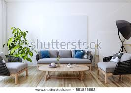 in the livingroom empty living room white wall background stock illustration