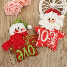 home christmas decoration animal snowflake biscuits christmas hand christmas xmas tree pendant ornaments snowman santa claus pentagram star hanging doll christmas home decor supplies