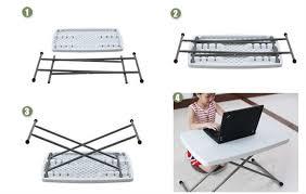 Adjustable Height Folding Table Adjustable Height Folding Table Children Desks Laptop Folding
