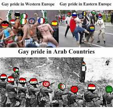 Gay Pride Meme - gay pride in western europe gay pride in eastern europe gay pride