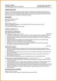 Resume For Accounting Job 7 Entry Level Job Resume Nypd Resume