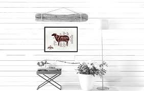 lamb meat cuts butchers chart home decor wall art decoration