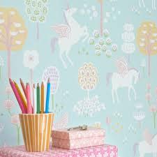 chambre enfant papier peint papier peint licorne chambre bébé fille design écologique et poétique