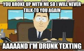 Drunk Texting Meme - 5 things every nigerian girl does after a breakup