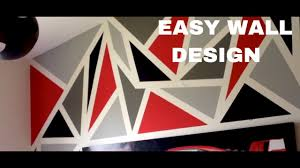 painting a diy geometric wall design easy youtube