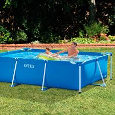 amazon com intex 118 by 78 by 29 1 2 inch rectangular frame pool