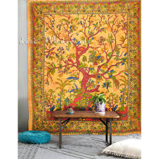 of tapestry yellow color large size wall hanging indian