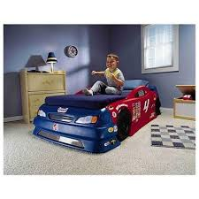 Nascar Bedroom Furniture by Step2 Stock Car Convertible Bed Toys