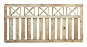 fence panels cross top picket u0026 solid fencing the garden