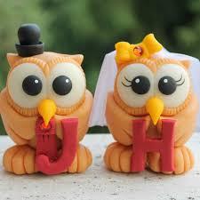 unique owl love bird wedding cake toppers