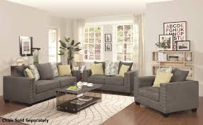 Sofa And Recliner Kelvington Grey Fabric Reclining Sofa And Loveseat Set A