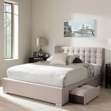 South Shore Step One Platform Bed With Drawers King Chocolate Platform Bed Queen With Storage Baxton Studio Lea Modern And