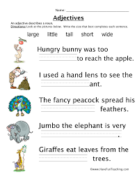 parts of speech worksheets have fun teaching
