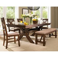 8 Pc Dining Room Set Split Pedestal Extension Dining Table Amish Tables Home Design
