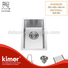 Small Kitchen Design Custom Size Single Stainless Steel Bar Sink - Kitchen sink small size