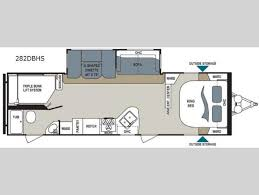 triple bunk travel trailer floor plans new 2017 dutchmen rv aerolite 282dbhs travel trailer at bankston