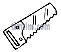 free drawing of a saw bw from the category building home tools