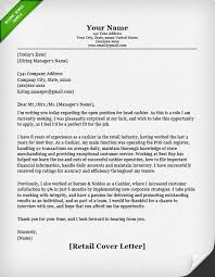 covering letter for retail 9951
