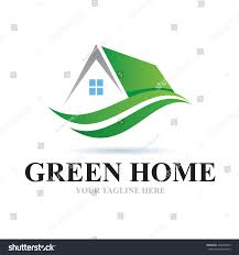 Home Design Logo by Logo Green Home Icon Element Template Stock Vector 378948775