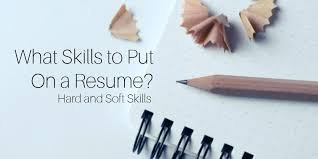 sample skills and abilities for resume what skills to put on a
