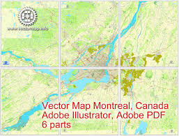 Printable Map Of Canada by Montreal Vector Map In Adobe Pdf Printable City Plan Map Of