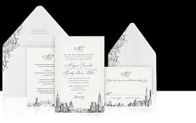wedding invitations new york new york luxury wedding invitations the wedding