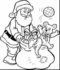 surprising printable christmas coloring pages kids santa