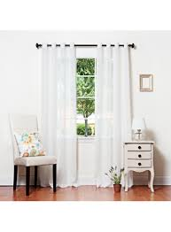 white crushed voil sheer grommet top curtain 84