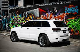 jeep cherokee white with black rims graphite gray custom rims on grand cherokee srt8 by exclusive