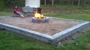 fire pit inspiring fire pit sand patio collapsible large stone
