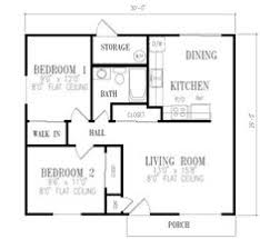 Two Bedroom House Plans by Tiny House Plan 96700 Total Living Area 736 Sq Ft 2 Bedrooms
