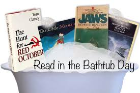 Bathtub Reading Read In The Bathtub Day Four Great Books You Should Read Quirk