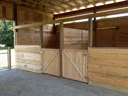 open doored stalls are situated outside allowing your horse to