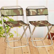 large metal backrest stool outdoor fishing stool portable folding