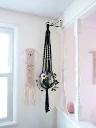 Hanging Wall Planters Black Plant Hanger 45